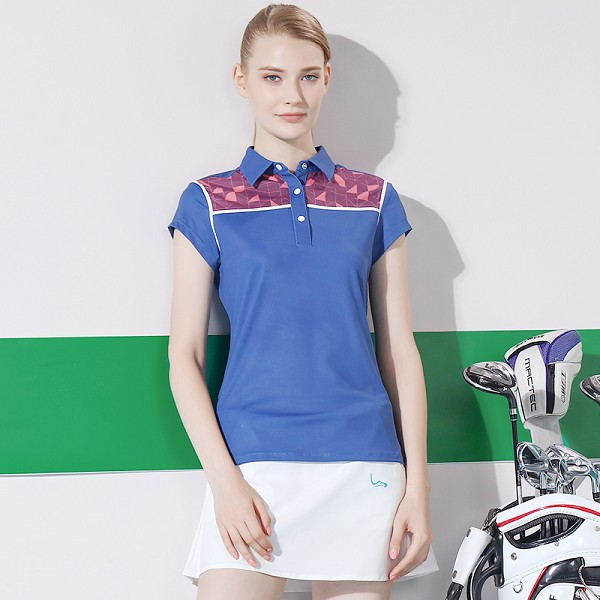 New design fashion sublimation high quality women polo t shirts