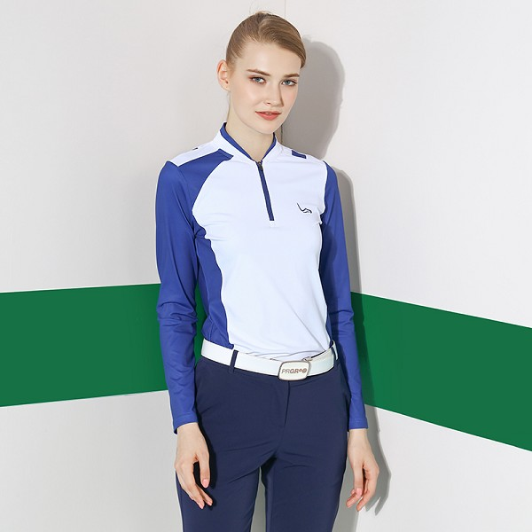 Factory price wholesale custom high quality stitching ladies golf long sleeve shirt