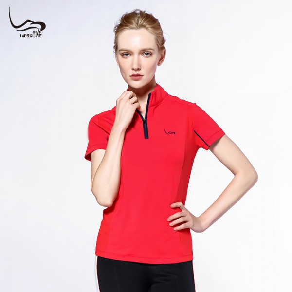 Wholesale newest clothing short sleeve women dry fit t shirt gym