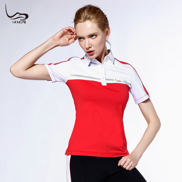 Moisture wicking perspiration women sport golf polo shirt dry fit