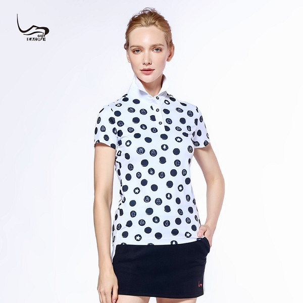 New style polyester with spandex summer polo girl tee shirt