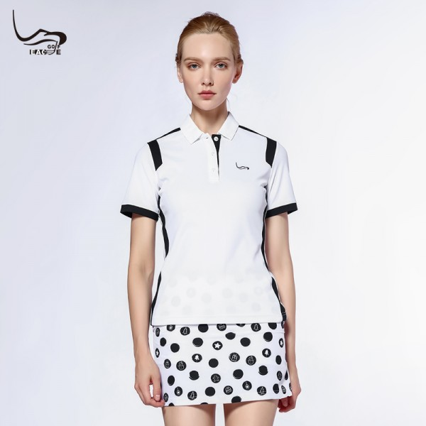 Polyester with spandex summer womens customize dry fit polo t shirt