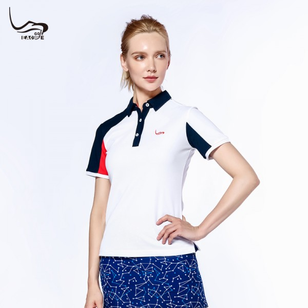 Hot selling basic casual style golf polo women t-shirt dry fit