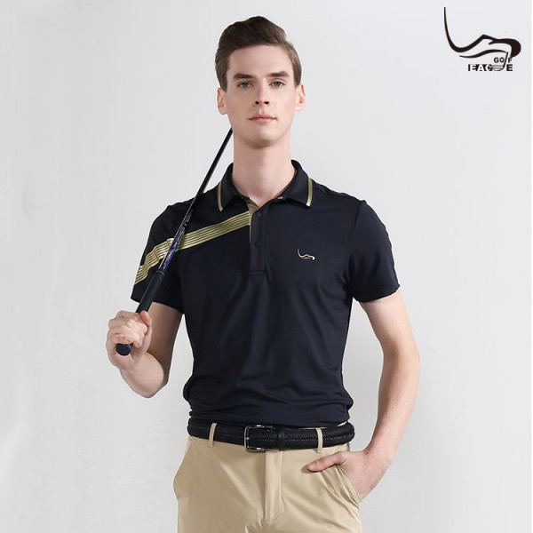 Hot selling breathable custom men polyester polo shirt