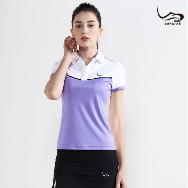 Wholesale cheap 100%polyester women dry fit golf polo shirt