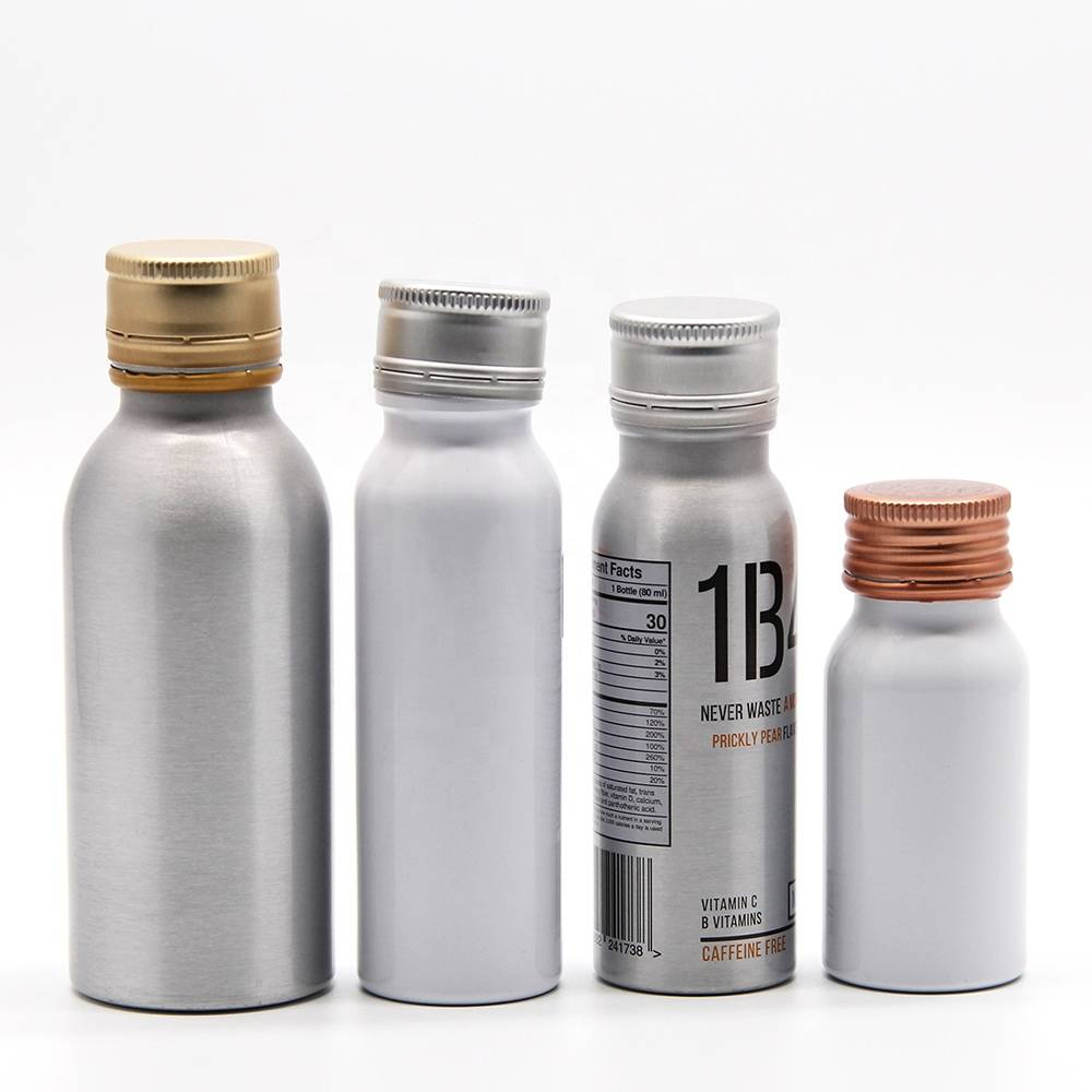 environmentally friendly customized design biodegradable aluminum empty aluminium bottle for beverage