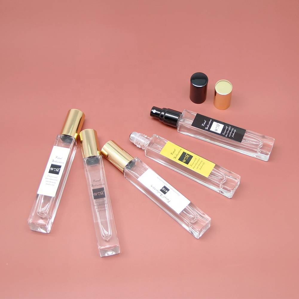China Custom Wholesale Luxury Empty Perfume Essential Oil Roller Spray Glass Perfume Bottle 10ml