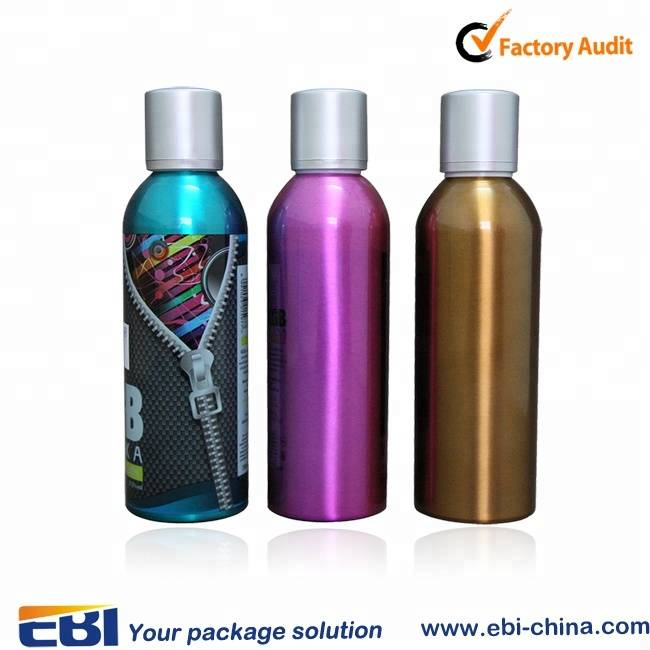 Empty 1000ml aluminum labels alcohol colored vodka bottle