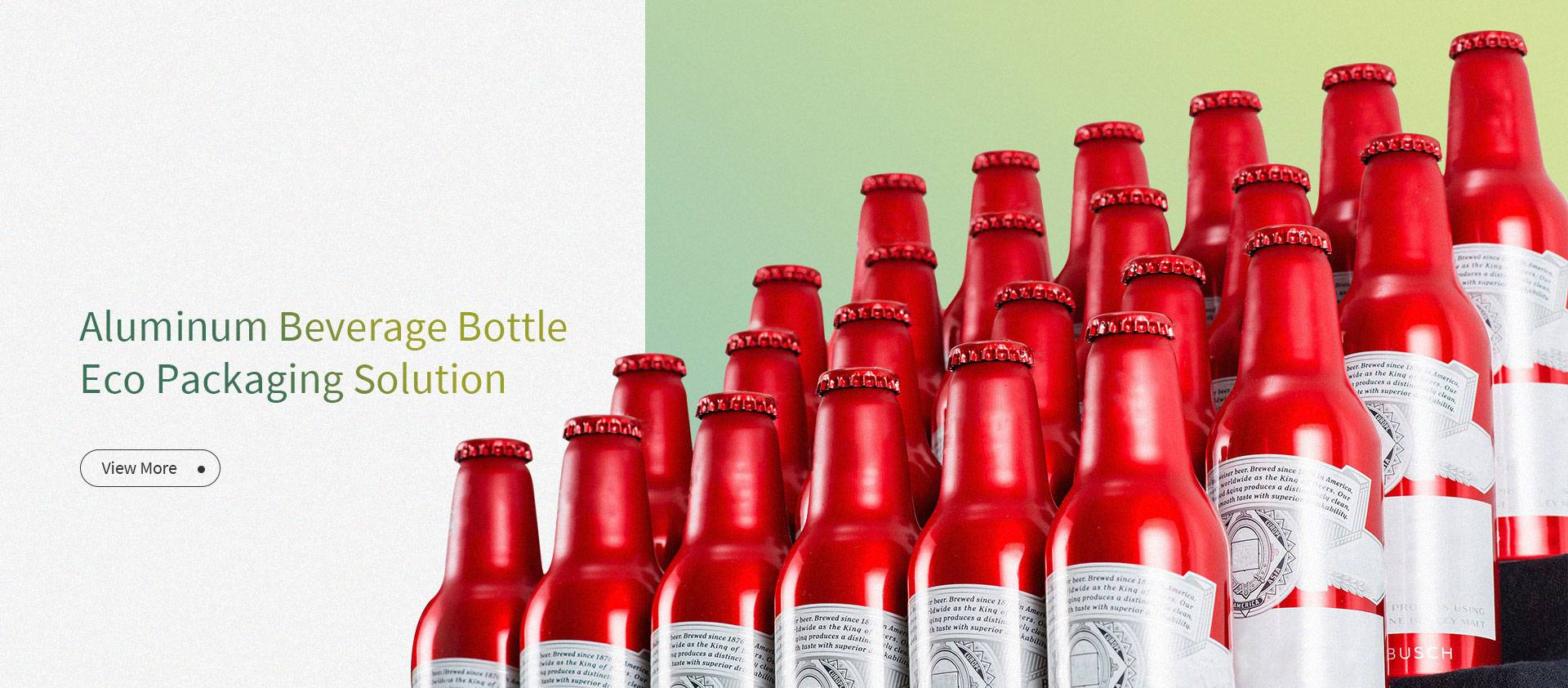 Aluminum Beverage Bottle Eco Packaging Solution