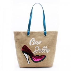 China OEM Embroidered Gift Bags - Eccochic Design Sequins High Heels Ladies Ciao Bella Shoulder Bag – Eccochic