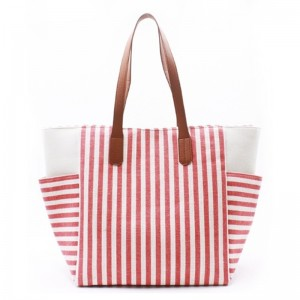 Eccochic Design Oversized Metallic Stripes Beach Bag