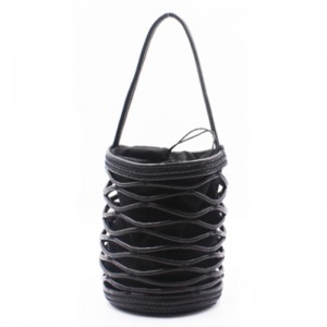 Top Suppliers Handmade Woven Bags - Eccochic Design Hand-made Pu Cord Bucket Bag – Eccochic