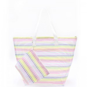 Eccochic Design Rainbow Mesh Beach Bag