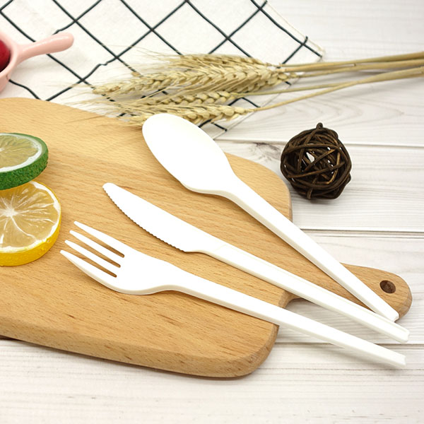 CPLA Plant-based Compostable Plastic-free Renewable 6.5 inch Cutlery Featured Image
