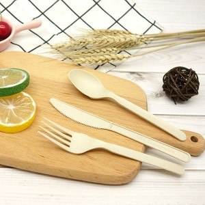 CPLA+Bamboo Plant-based Compostable Plastic-free Renewable 6 inch Cutlery