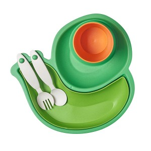 Eco-friendly Bamboo Fiber Baby Dinner Tableware Set