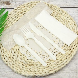 CPLA Plastic-free Sustainable Renewable Cutlery Kit – Compostable bag