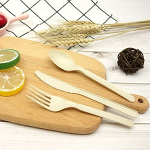 CPLA+Bamboo Plant-based Compostable Plastic-free Renewable 7 inch Cutlery