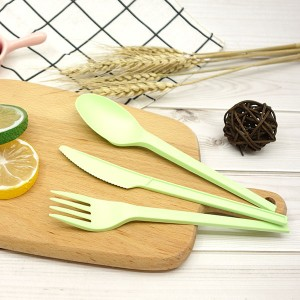 CPLA Plant-based Compostable Plastic-free Renewable 6.5 inch Cutlery