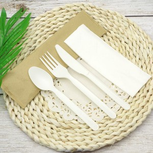 CPLA Plastic-free Sustainable Renewable Cutlery Kit – Paper bag