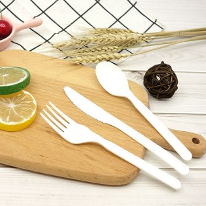 CPLA Plant-based Compostable Plastic-free Renewable 7 inch Cutlery