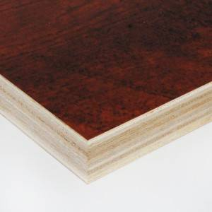 Edlon 15mm thick 5*10 cabinet grade wood grain melamine plywood poplar core