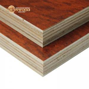 Edlon 18mm thick cabinet grade wood grain melamine plywood poplar core Picture Show
