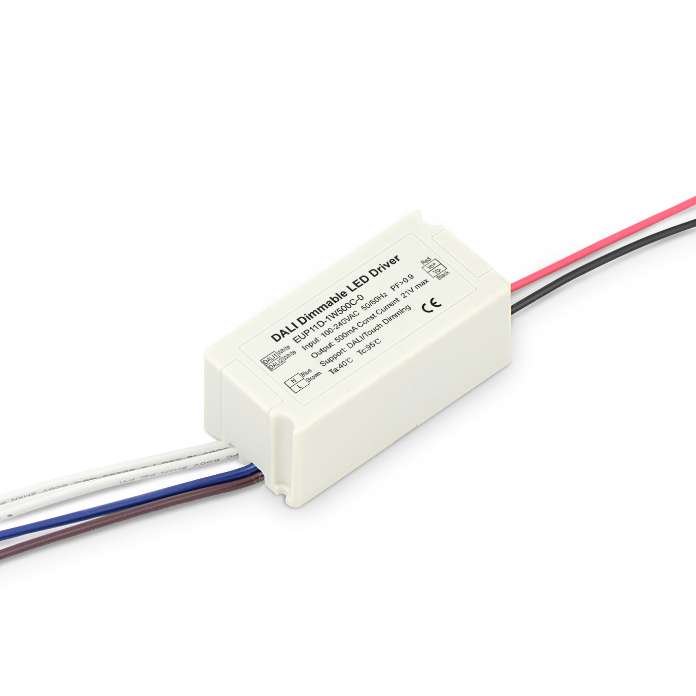 11W 500mA DALI Dimming Constant Current LED Driver EUP11D-1W500C-0 Featured Image