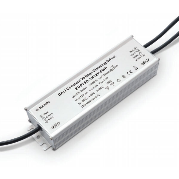 75W 12VDC 6.2A*1ch Waterproof CV DALI Driver Featured Image