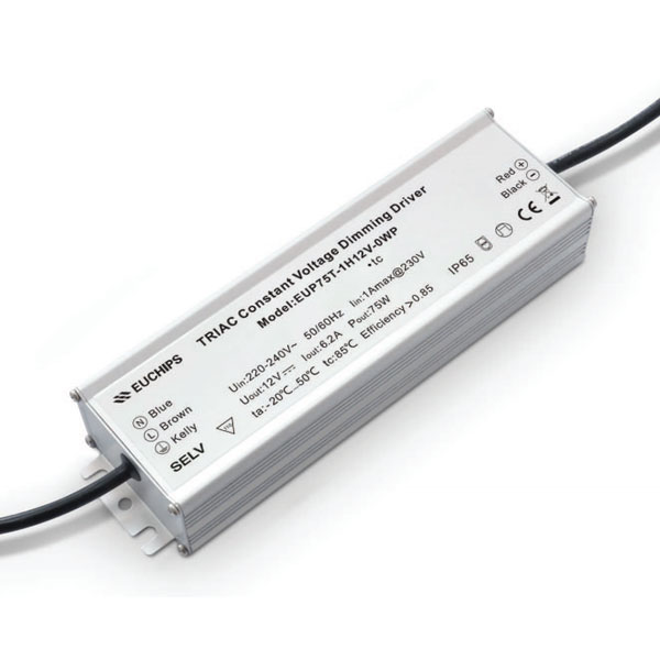 75W 12VDC 6.2A * 1Cr Waterproof CV Triac Driver