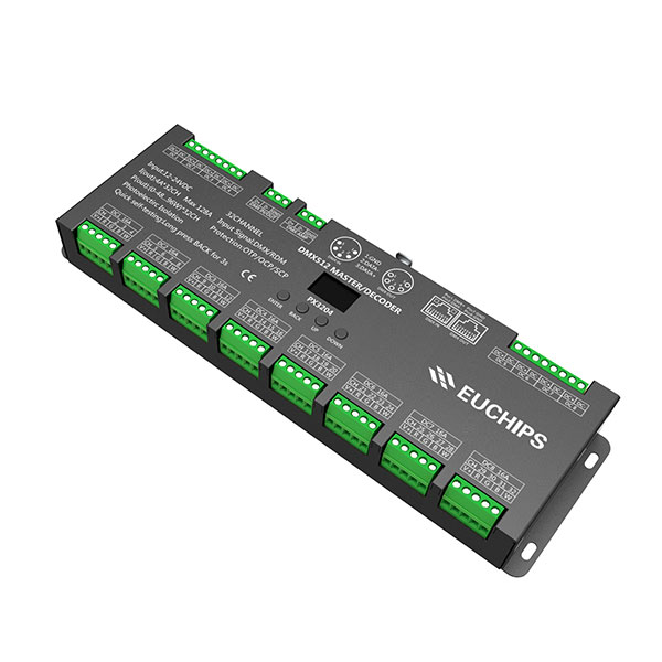 Trending Products Led Dali Driver – 12-24VDC 4A*32ch DMX512 Decoder & Master – Euchips