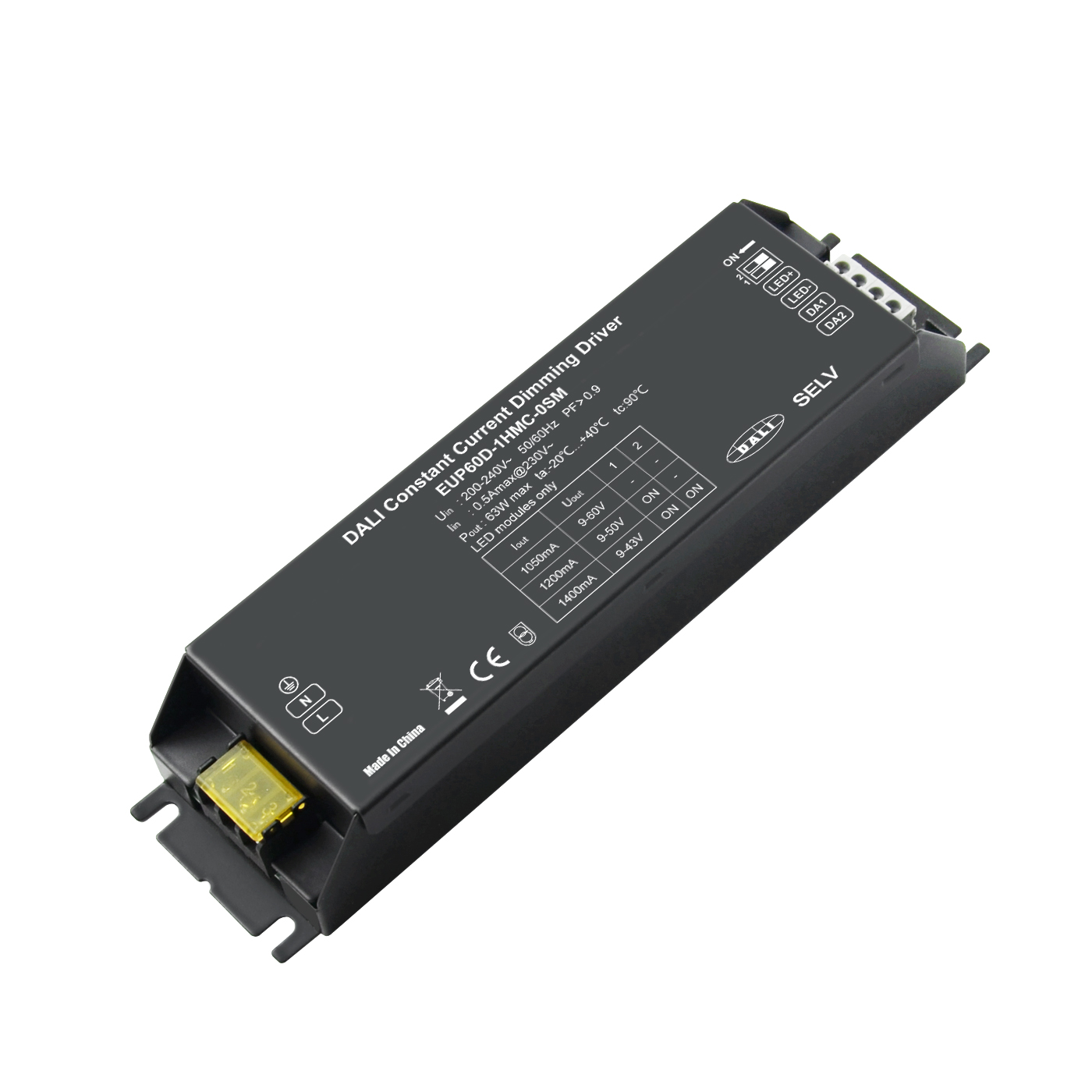60W 1050/1200/1400mA Constant Current DALI Driver EUP60D-1HMC-0 Featured Image