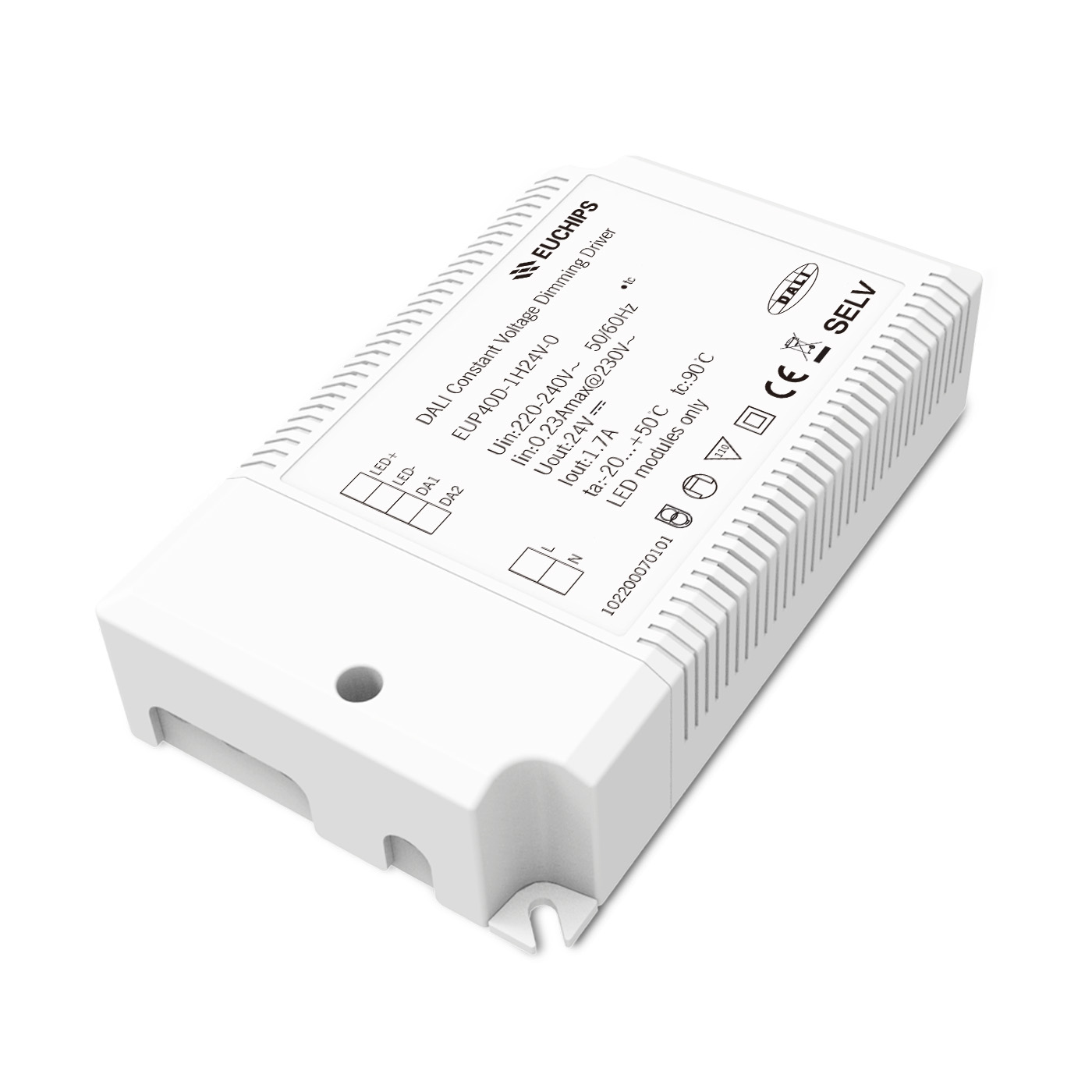 40W 24VDC DALI Constant Voltage LED Driver EUP40D-1H24V-0 Featured Image