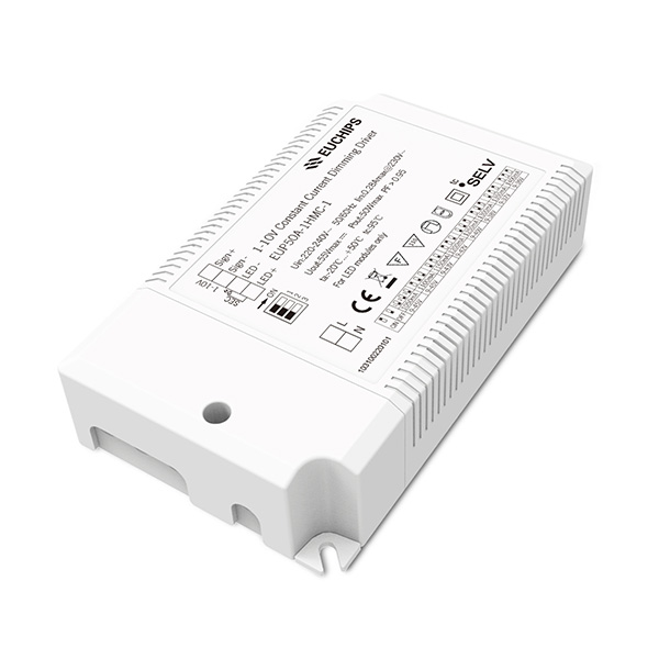 OEM Manufacturer 30a Pwm Led Dimmer Controller – 50W 1050/1100/1150/1200/1250/1300/1350/1400mA CC 1-10V Driver – Euchips Featured Image