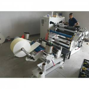 Straw Paper Strip Roll Slitting Rewinding Machine