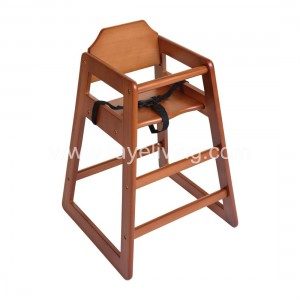 Restaurant Stackable Solid Wood Baby Highchair