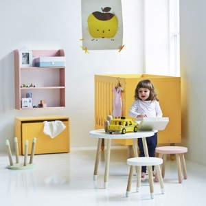 Modern Colorful Kids Playtable and Stool Chair set