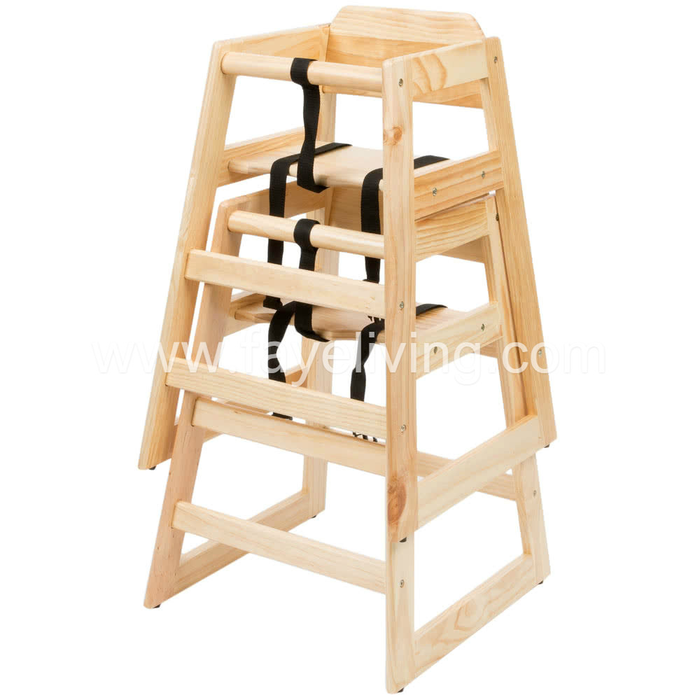 Restaurant Stackable Solid Wood Baby Highchair Featured Image