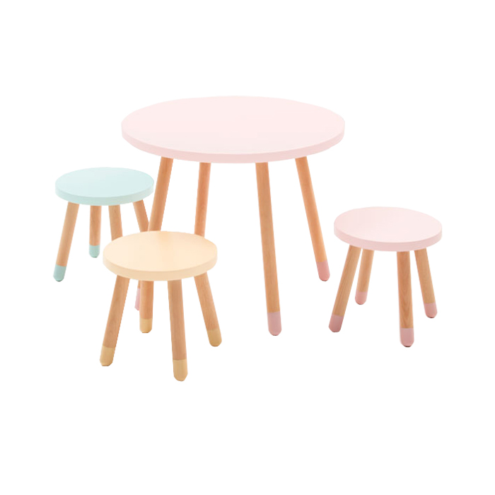 Modern Colorful Kids Playtable and Stool Chair set Featured Image