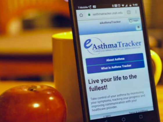Children who use asthma tracking app have better disease control and fewer hospital visits