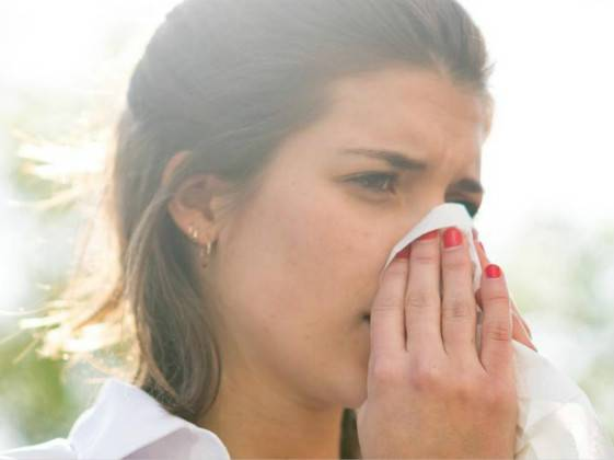 Pollen allergies occur more frequently in anxiety sufferers