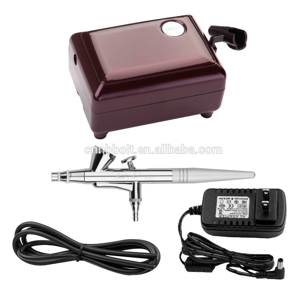 ROHS certificate Mini Compressor Airbrush Make Up System