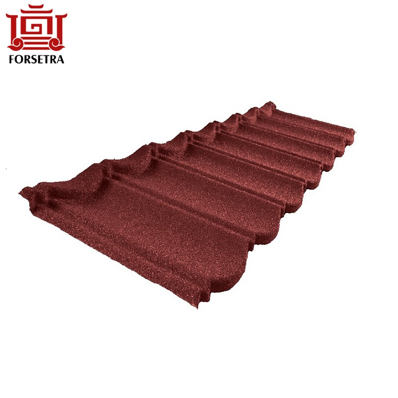 Philippines Colorful Classical Bond Type Stone Chips Coated Metal Roof Tile Price On Sale Featured Image