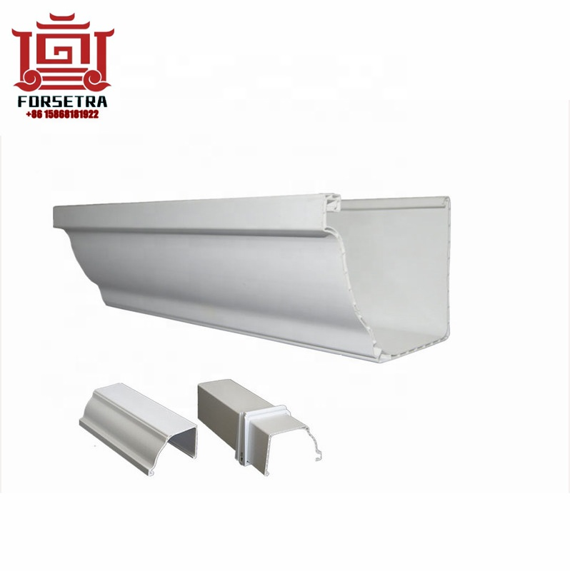 Kenya Hotsales colored pvc roofing gutter square gutter and downspout roof gutter Philippines