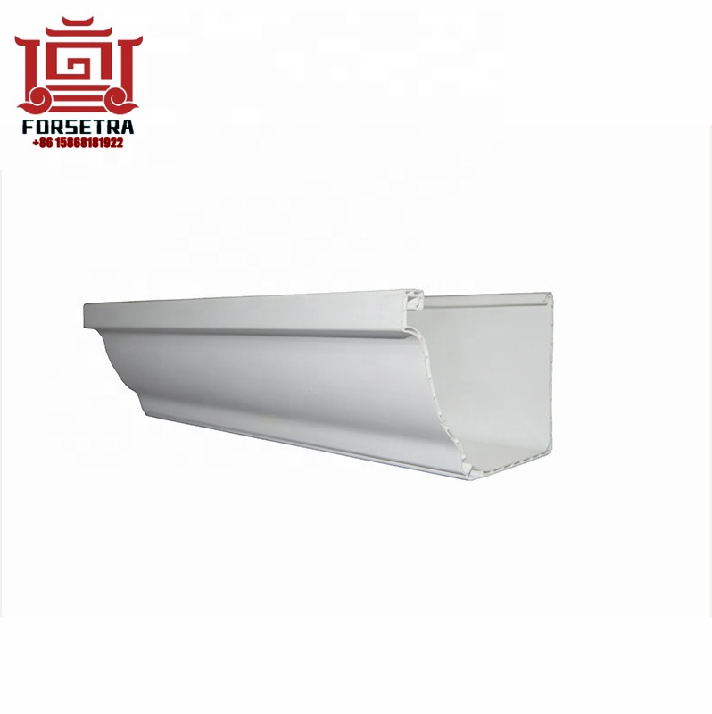 Hot Sale Low Price Durable UV Resistant K-style PVC Square Rain Gutter White Color For Roofing