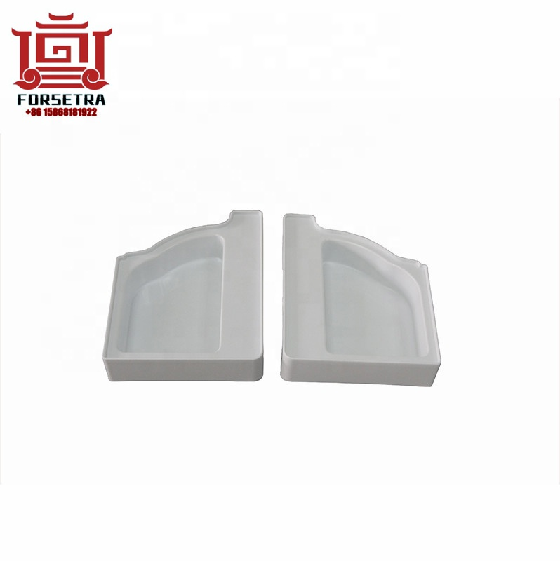 5.2 inch Forsetra PVC Square Rain Gutter Fitting  Left Right End Caps