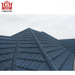 Free Sample Offered High Quality Colorful CL Sand Granules Chip Coated Steel Metro Roof Sheet Tile for Nepal