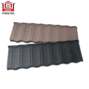 Galvalume Material Red Stone Chip Coated Steel Roofing Sheet