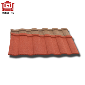 Africa Market Prices Fire Resistance Roman Alu- Zinc Sand Coated Roof Tile Terracotta Roof Tile