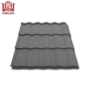 Competitive Price 50 Years Guarantee Roman Type Modern Stone Coated Roofing Sheet